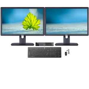 "Dell + Lenovo All In One Pro Bundle (Intel G1820T, 240GB SSD,16GB RAM, Dual 22"")"
