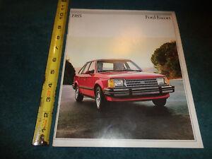 1985 Ford Escort 24-page Original Car Dealer Sales Brochure  Catalog