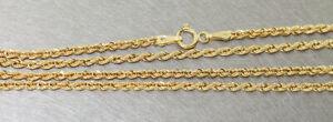 Cadena Oro 585 Cadena de Cuerda Walliskette 50CM Oro 14KT Collar 2,6 MM Ø
