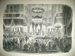 PARIS-NOTRE-DAME-FUNERAILLES-ARCHEVEQUE-VERSAILLES-POSTES-ALGERIE-GRAVURES-1871