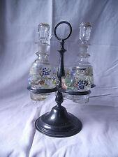 Berndorf oil and vinegar bottle, pair of spiceholder, Öl und Essigbehälter,