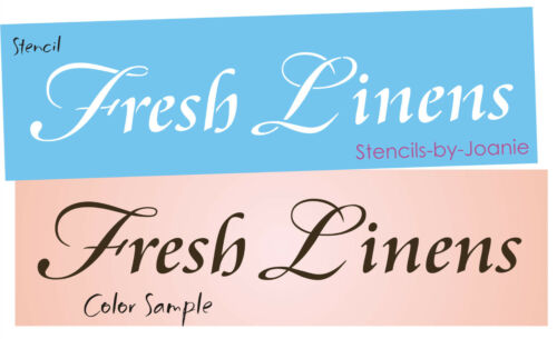 Design by Joanie Stencil Fresh Linens Laundry Signs U Paint Country Prim decor