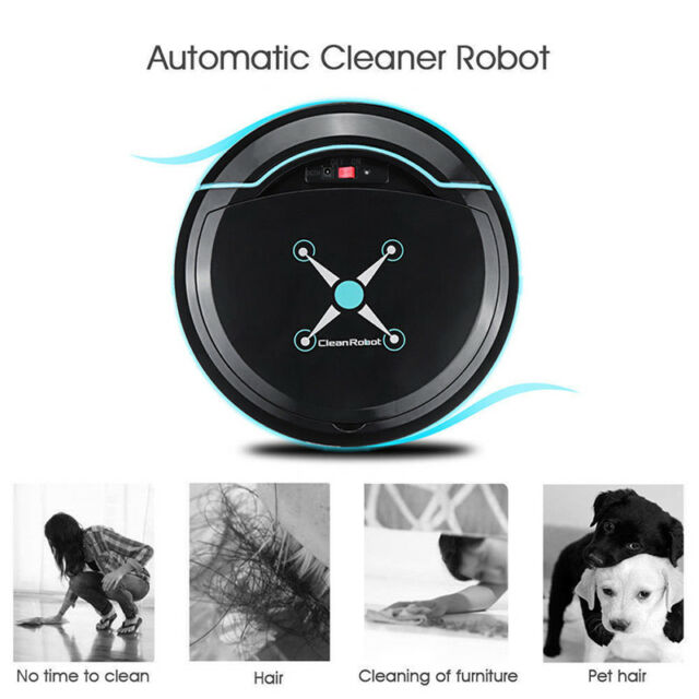 Rechargeable Automatic SmartRobot Vacuum Cleaner Edge Cleaning Suction SweeperBI
