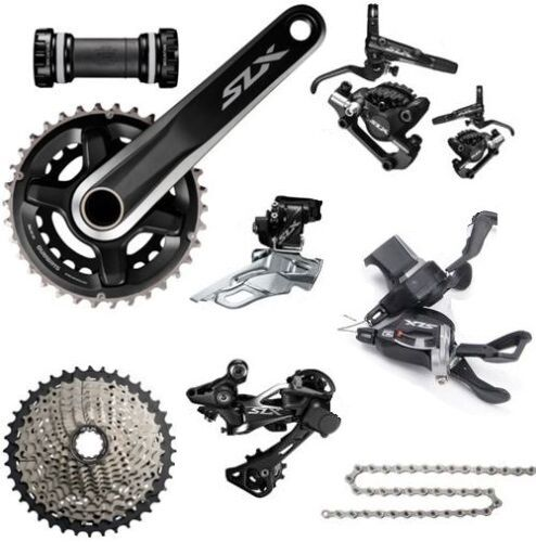Shimano SLX M7000 2x11 Speed Double Groupset With Disc Brake Set 8 Pcs 11-42T