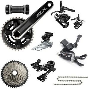 New Shimano SLX M7000 Double 2x11 22-speed MTB Group Groupset set