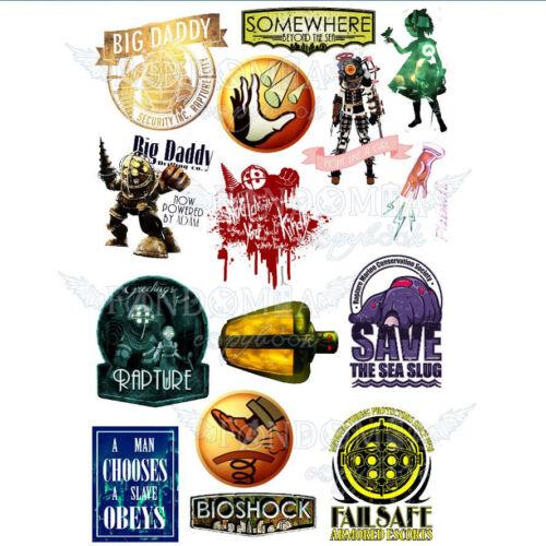 Bioshock Big Daddy A4 stickers set decals
