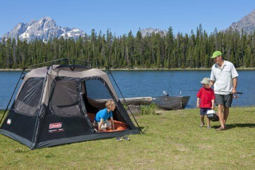 Coleman Instant 4 Persona Easy Set Carpa Cabina Impermeable familia Camping Paseos