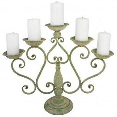Esschert Design Aged Metall Grün Kerzenständer Garten Kerzenhalter Deko Antik