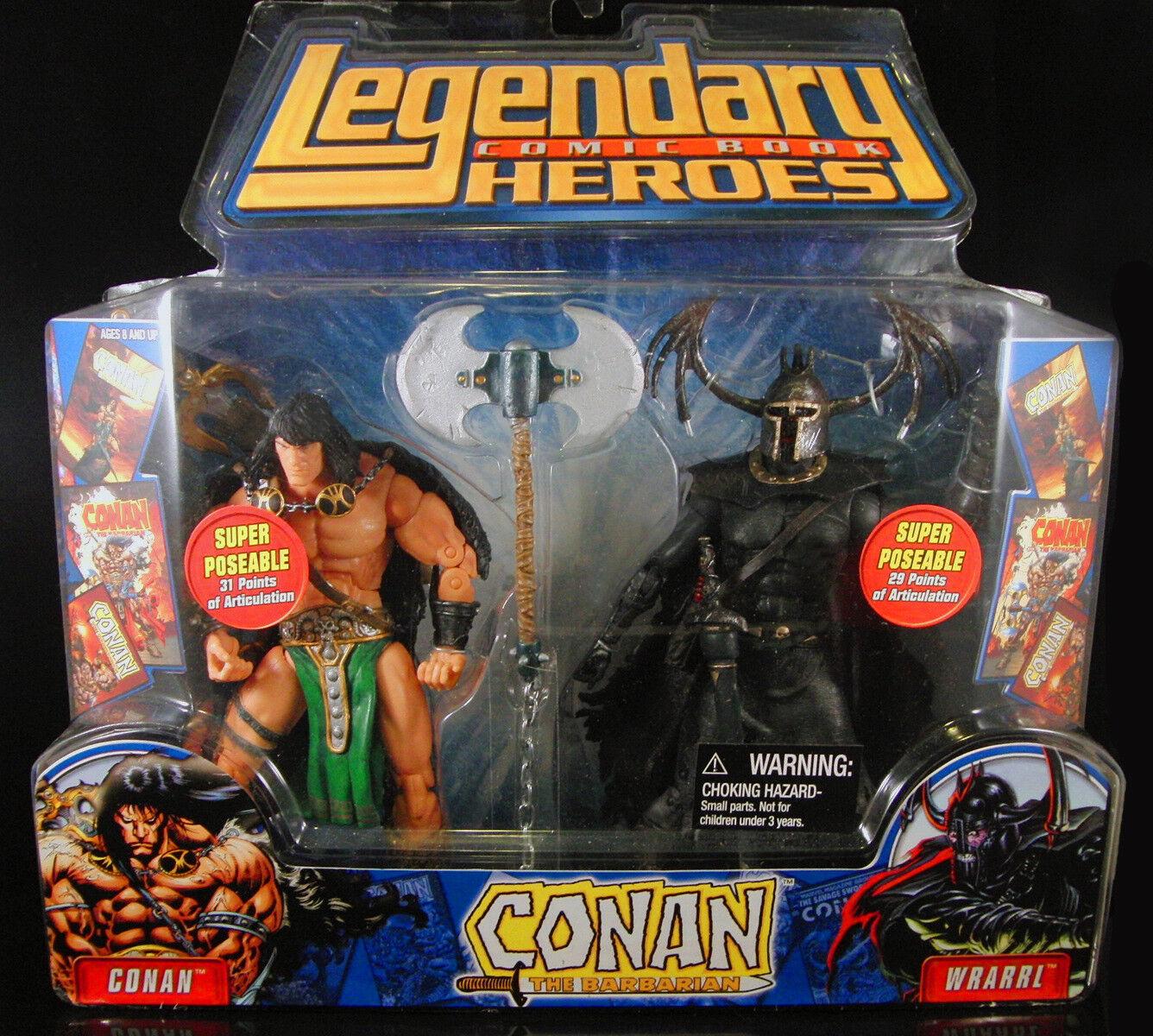 Marvel legends comic heroes conan the barbarian vs wrarrl set toy biz figure