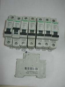 SCHNEIDER EASY9 EZ9F1610 B6 //B10//B16//B20//B32//B40//B50 AMP 6KA SINGLE POLE MCB/'S