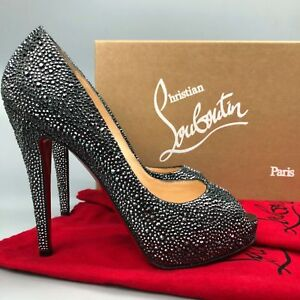 separation shoes b977d 5f76e Details about $3300 NEW Christian Louboutin Very Riche 120 Strass Crystal  High Heel Shoes 39.5