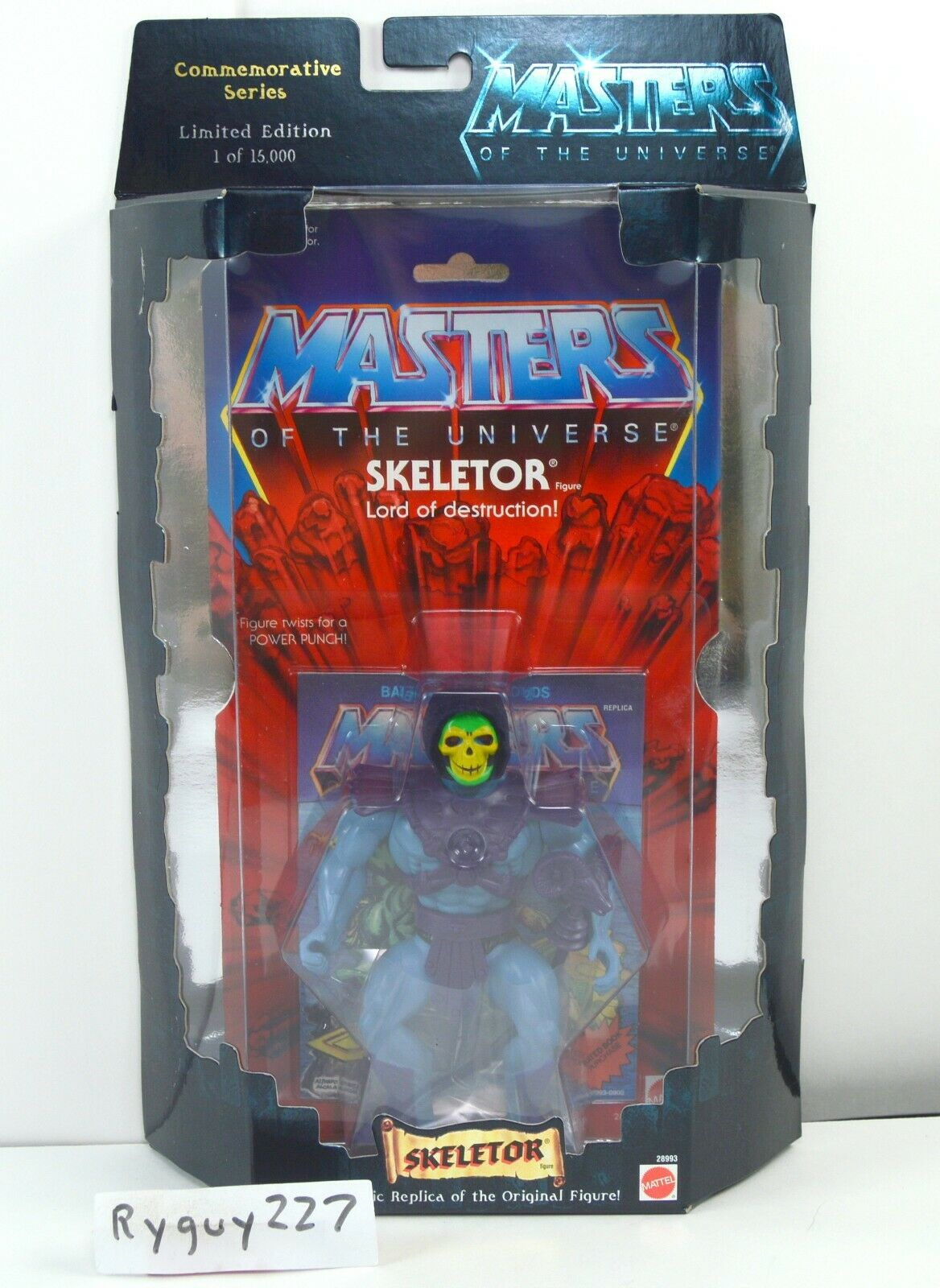 MOTU, Commemorative Skeletor, MISB, sealed box, MOC, Masters of the Universe