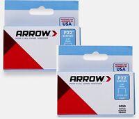 2 Boxes Of 5000 224 Arrow Staples 1/4 6mm Plier Type P-22 Stapler Free Ship