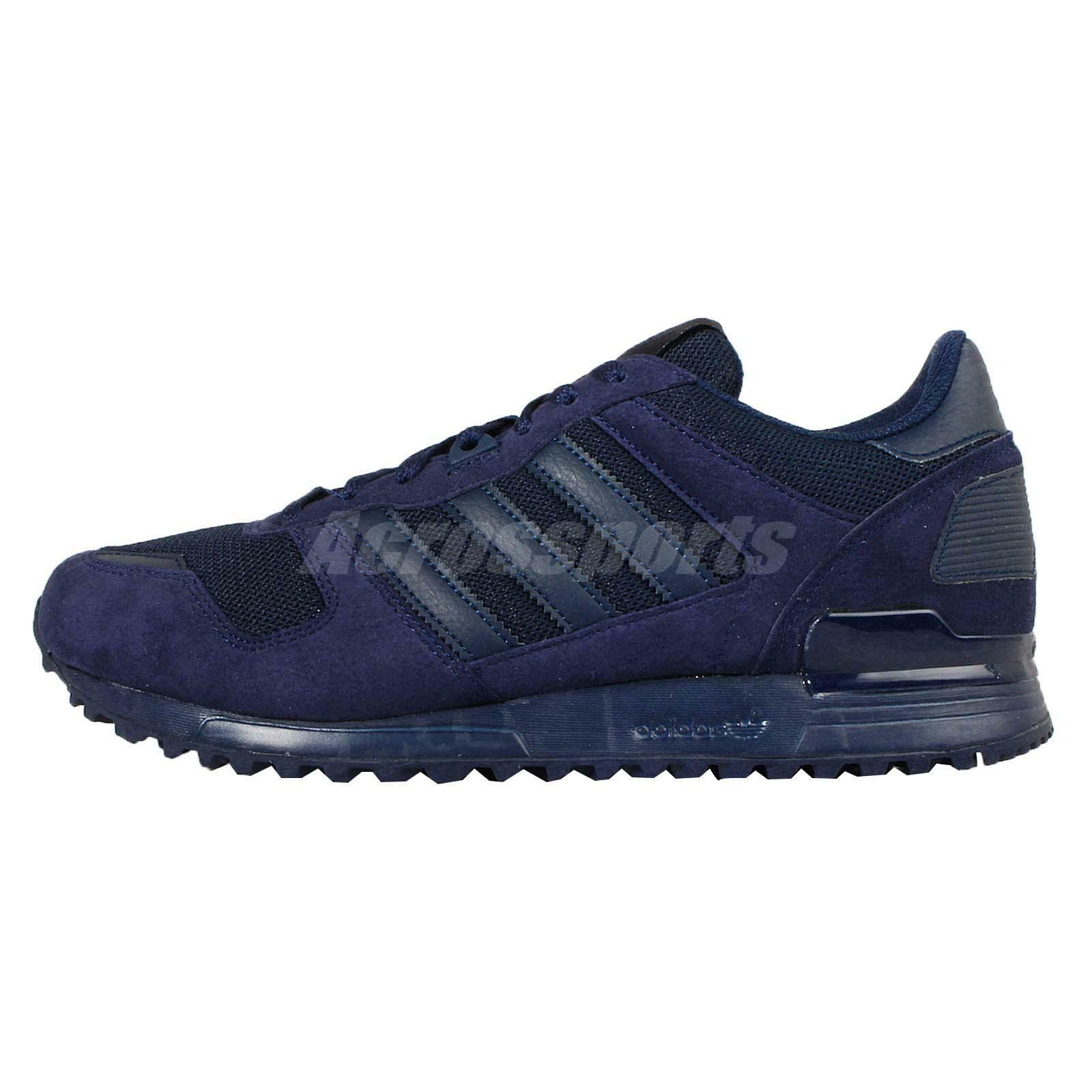 big sale a1af5 61c75 outlet Adidas Originals ZX 700 Navy Suede Mens Casual Shoes Sneakers  Trainers S79186