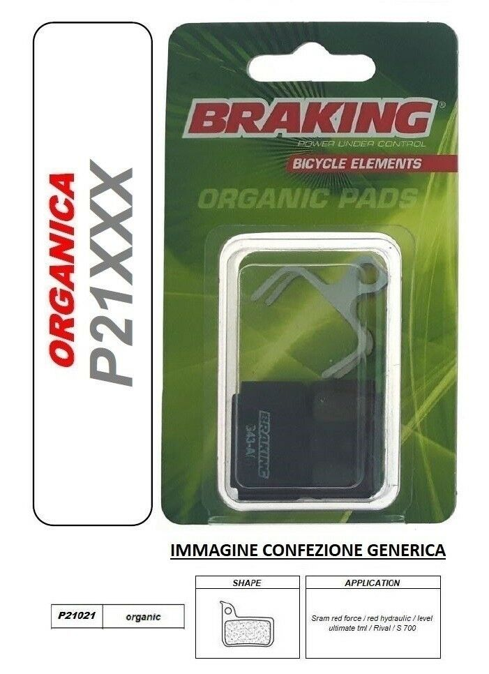 BRAKING PASTIGLIE PASTIGLIE PASTIGLIE FRENO ORGANICA MTB ALL MOUNTAIN Sram level ultimate tlm d4344a
