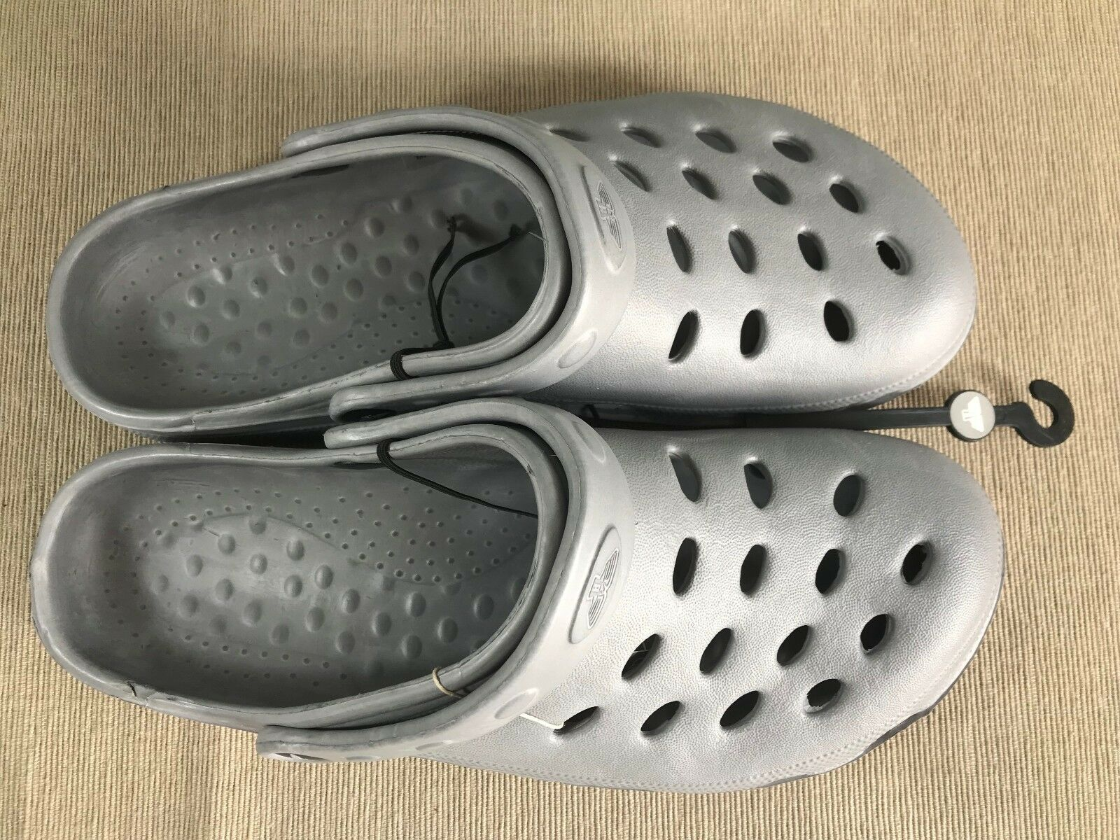 BNWT Mens Sz EURO 41 US Silver 8 Rivers Doghouse Brand Silver US Grey Clog Sandals Shoes 08b8be