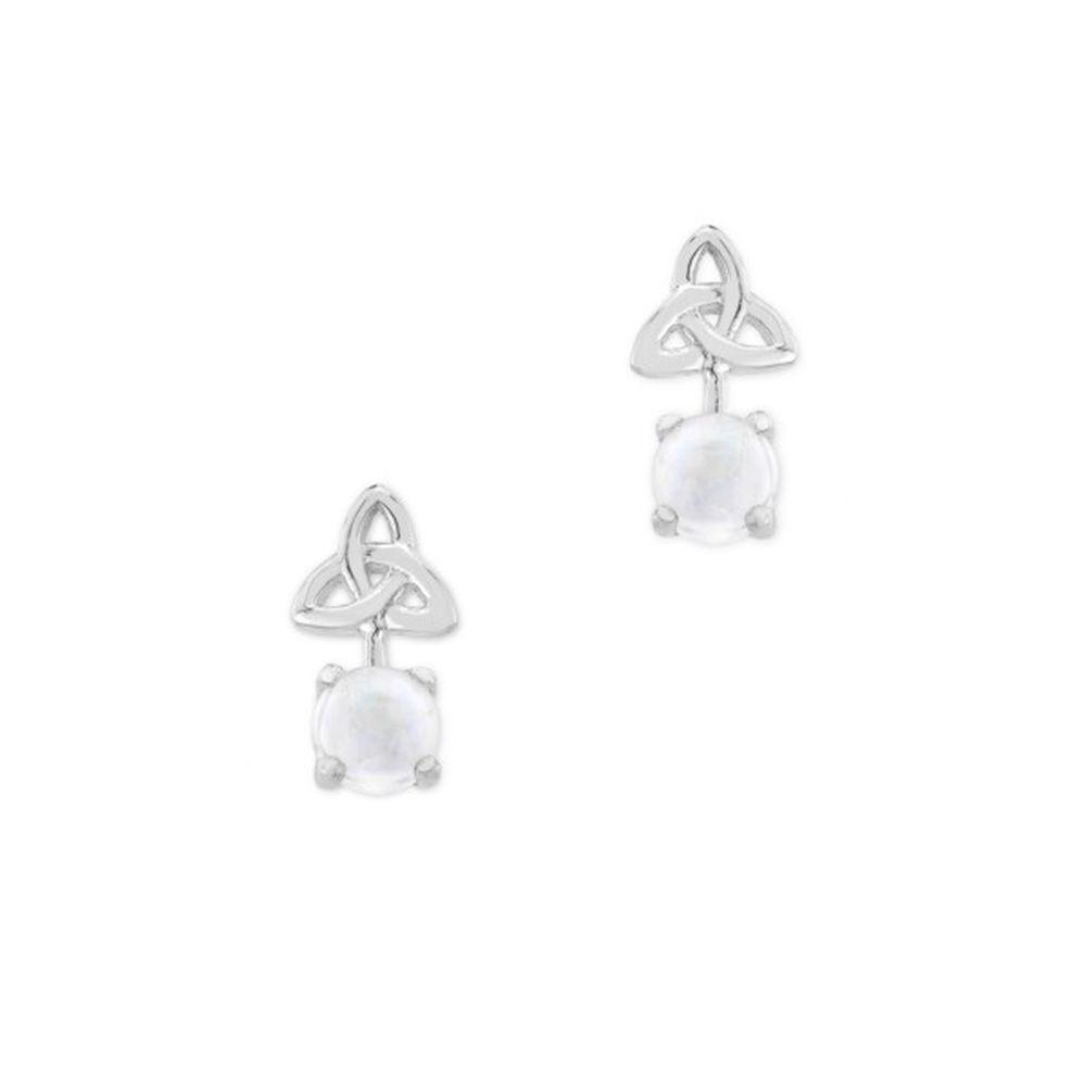 Celtic Birthstone Stud Earrings June - Moonstone - 9507