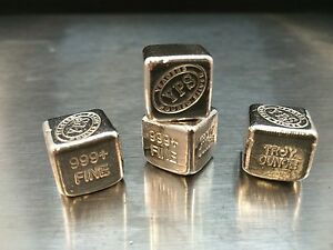 1 Oz Hand Poured 999 Silver Bullion Bar Quot Cube Quot By Yps