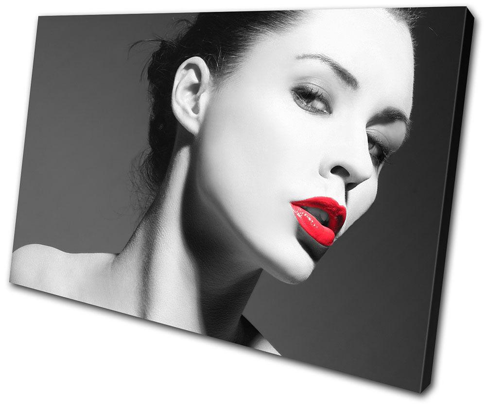 Fashion Lips Sexy NUDES SINGLE TELA parete arte foto stampa