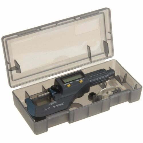 """iGaging Digital Electronic Micrometer Outside 0-1/""""//0.00005/"""" X-Large LCD Carbide"""