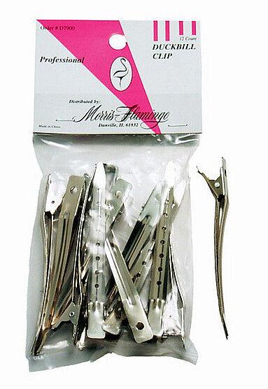 Morris Flamingo D7900 DUCKBILL Metal Hair Clip 12 ct. sale