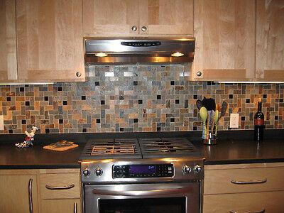 Travertine HERRINGBONE Slate Granite MOSAIC TILES Kitchen Backsplash FREE  S+H!!! | eBay