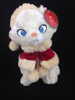 Disney Store Exclusive Aristocats Marie White Cat Plush Stuffed Animal Christmas