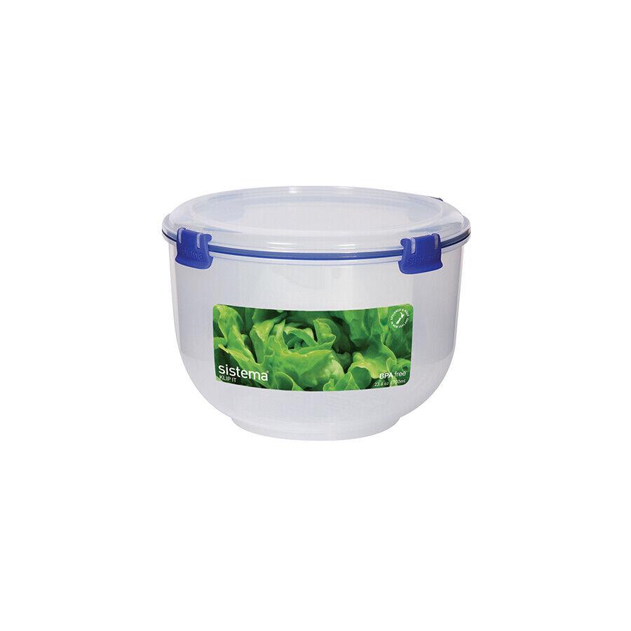 SISTEMA Set 4 ermetico polipropilene tondo litri3.5 contenitore per il cibo