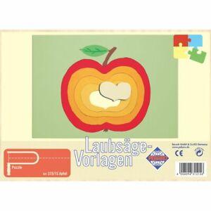 PEBARO-Laubsaegevorlage-Apfel-Puzzle