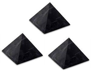 3-x-Shungite-UNPOLISHED-pyramid-2-034-51mm-Original-Healing-Stone-Karelia-Russia