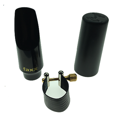 Faxx USA Alto Saxophone Mouthpiece with Rovner 1RL Ligature and Cap