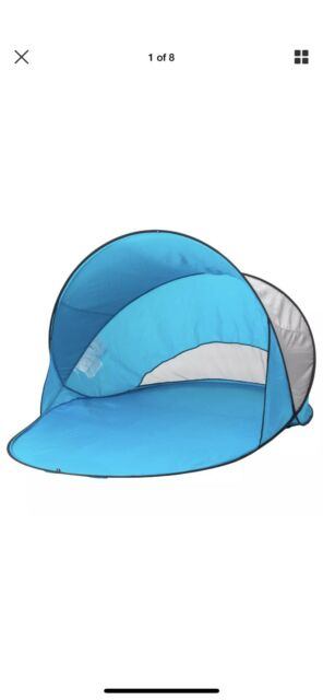 finest selection 1465e a444b IKEA Sommarvind Tent Turquoise Blue Light Pop-up Beach Wind Screen Sun Shade