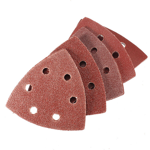 15X 90mm Sanding Disc Sheet 60 80 120 180 240 Grit Sandpaper 6 Hole