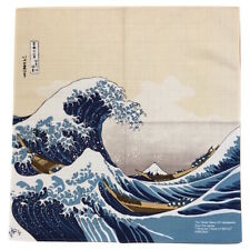 Japanese Furoshiki Wrapping Cloth Hokusai Ukiyoe Great Wave Mt. Fuji Kyoto