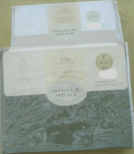 Whole Home Sheet Set Egyptian Cotton 350 TC VARIOUS BRAND NEW PACKAGE