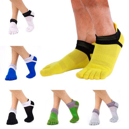 5 Pairs Mens Toe Socks Sports Socks Five Finger Pure Breathable Mesh Running