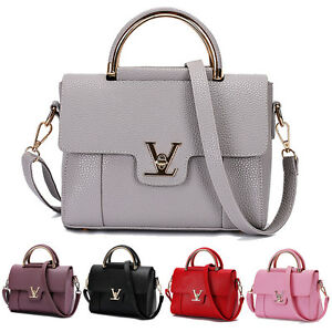 Image is loading Women-Leather-Shoulder-Bags-Girls-Crossbody-Handbag-And- 07efc09b54c71
