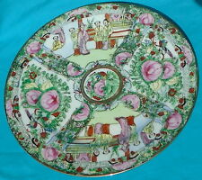 """Macao Chinese Rose Medallion-style 10"""" Porcelain China Plate, CPC, circa 1970, 1"""
