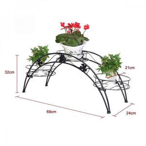 tag re de pots fleurs plantes etag re arche en m tal fer. Black Bedroom Furniture Sets. Home Design Ideas