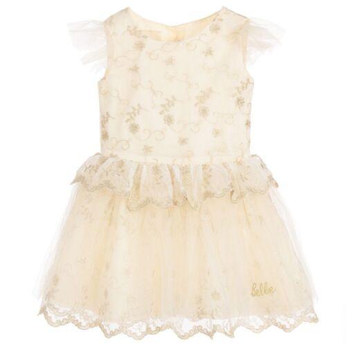 Baby Toddler Premium Disney Boutique Belle Beauté la bête Brodé Robe