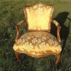 Barock-Sessel-Fauteuil-Louis-XV-Kunst-Stuhl-Barockmoebel-Rokoko-Antik-Vintage-Art
