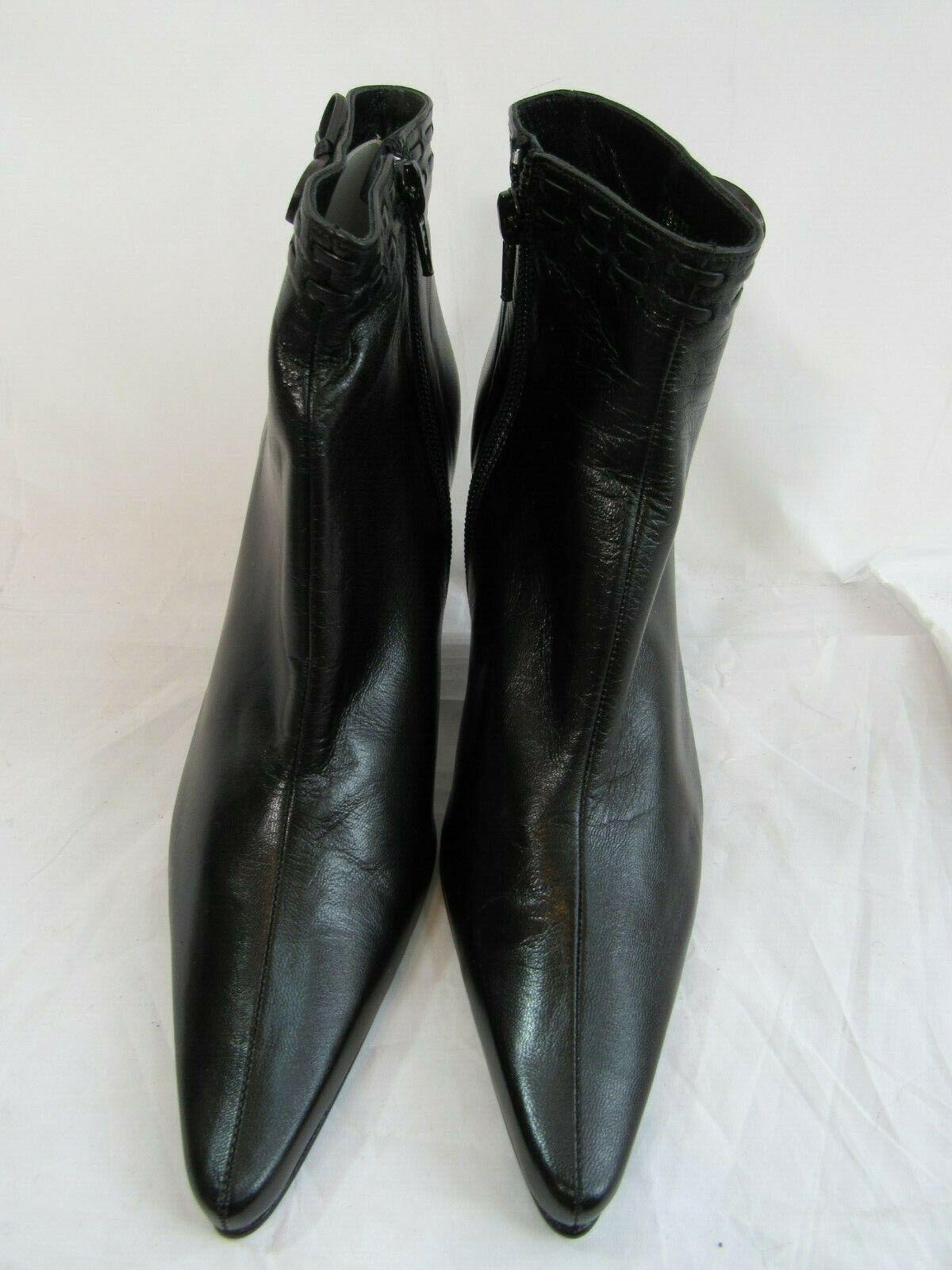 Delman Bota Al Tobillo Negro Usado En Excelente Condición tamaño 8M