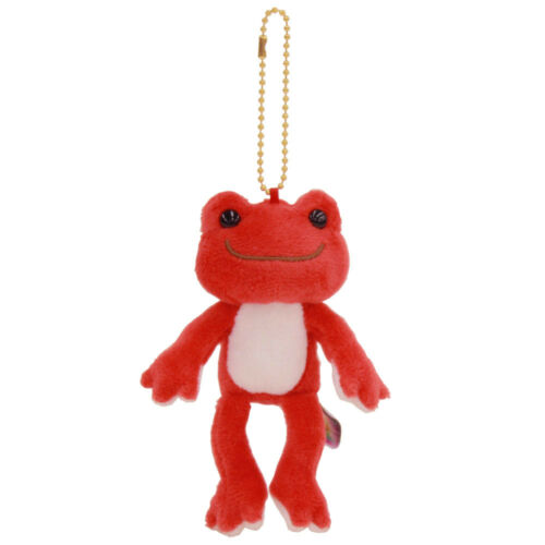 Pickles the Frog Plush Keychain Akane Red Rainbow Color Japan