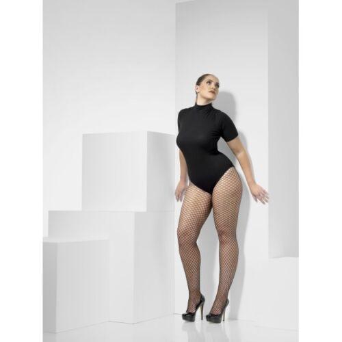 Ladies Burlesque Fancy Dress Accessory Plus Size Lattice Net Fishnet Tights