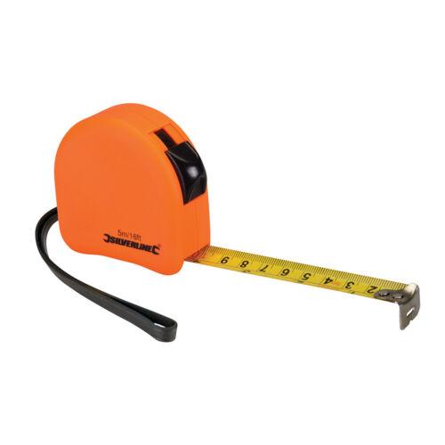 16ft x 19mm Measure Measuring Metric Imperial DIY Tool Hi-Vis Contour Tape 5m