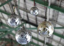Xl Antik Rauchmelder Spielerei 15cm Riesiges Silber Mercury Glas Weihnachten