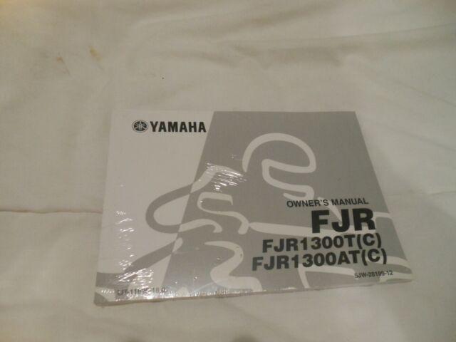 New Oem Yamaha Fjr1300t  C  Fjr1300at  C  Owner U0026 39 S Manual