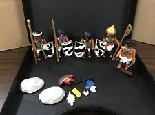 Playmobil Egyptian Native First Nations Indian Figure & Parts Lot W/Carry Case