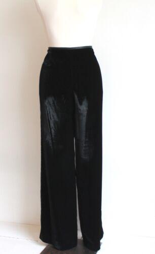 taglia Pantaloni in Uk Collezioni nero tessuto Armani 16 Pantaloni velluto in 4dwRWI48q