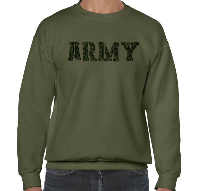 98f94a94fa Camo Camouflage US Army Military Men's Sweatshirt Crewneck Sweater Winter  Gift